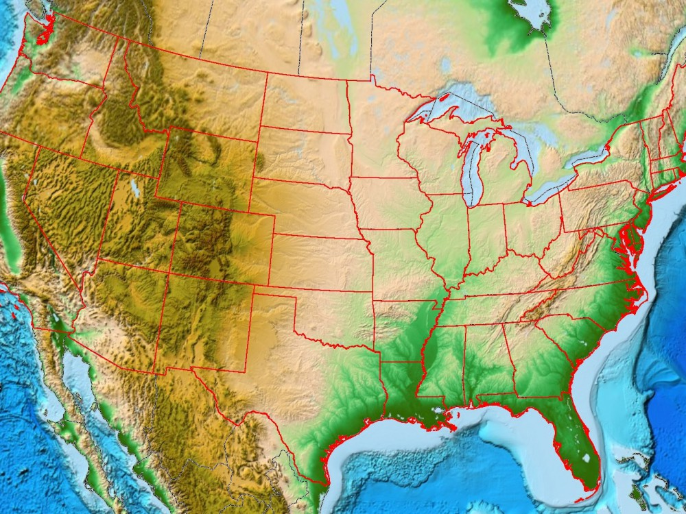 Continental US Well Maps - VIDL Network